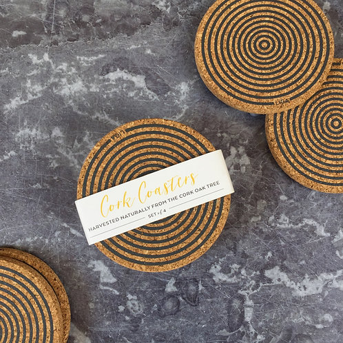 LIGA Cork Coaster Sets