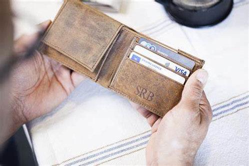 Scaramanga Mans Leather Wallet