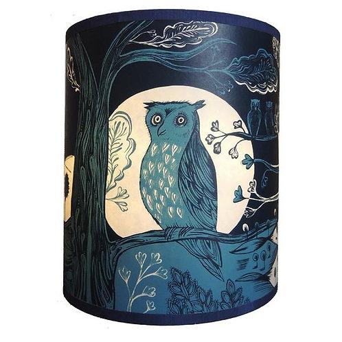Lush Blue Owl Lampshades