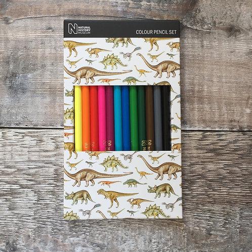 Colour Pencil Set | NHM Dinosaurs