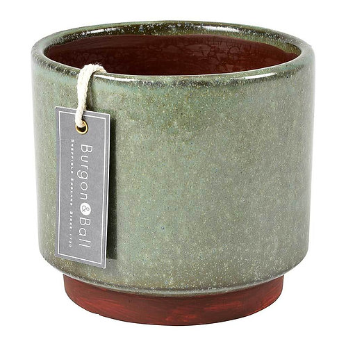 B&B Malibu Glazed Pot - Green