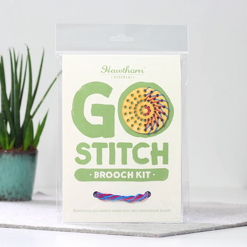 Go Stitch Brooch Kit