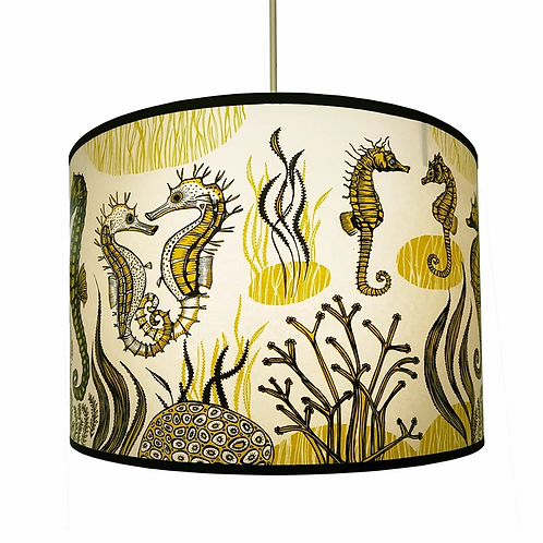 Lush Yellow Seahorse Lampshades