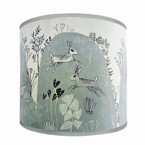 Lush Rabbit Blue Grey Lampshades