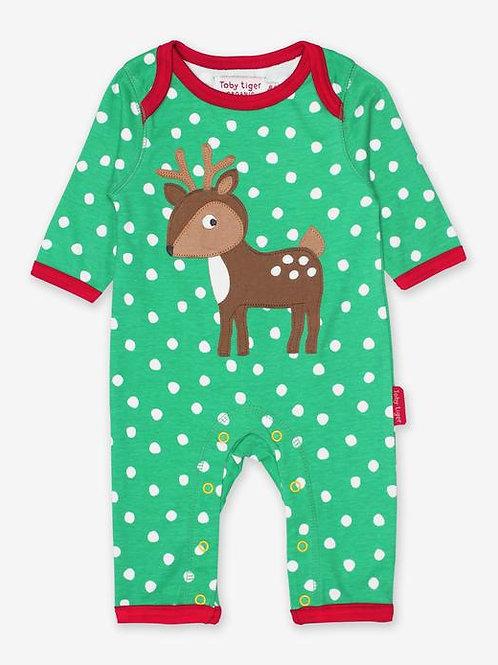 Toby Tiger Deer Sleepsuit
