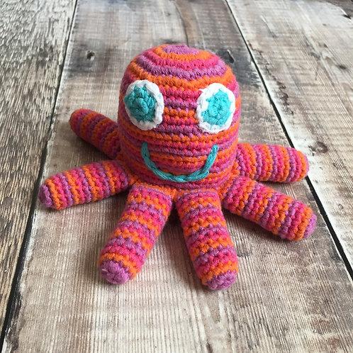 Pebble Octopus Rattle | Pink