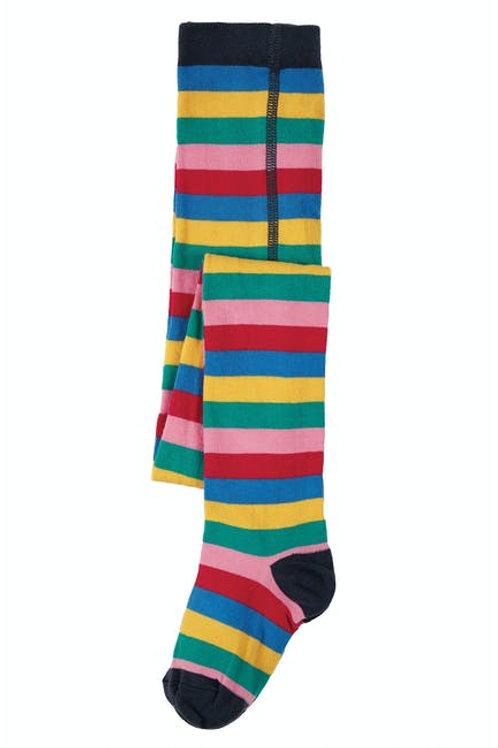 Frugi Tamsyn Tights | Rainbow Stripe