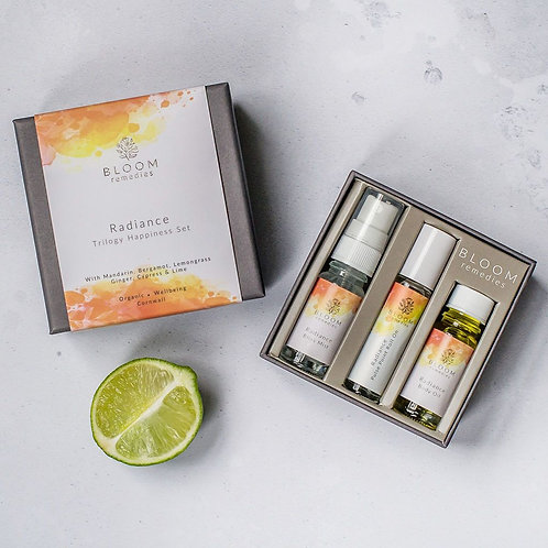 Bloom Remedies Radiance Happiness Trilogy Set