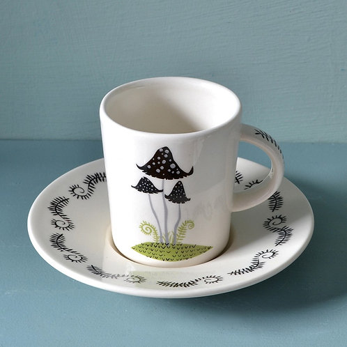 Hannah Turner | Toadstool Espresso Cup & Saucer