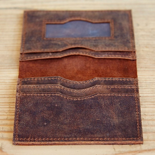 Paper High Buffalo Leather Travel Wallet