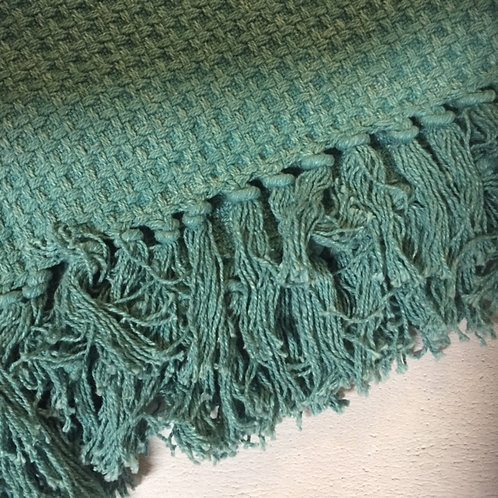 Cotton Jacquard Throw with Tassels