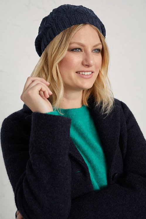 Seasalt Draycott Beret | Dark Night