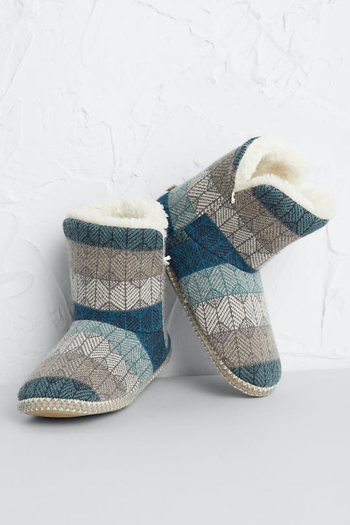 Seasalt Snooze Slipper Booties | Lost Maze Nettle