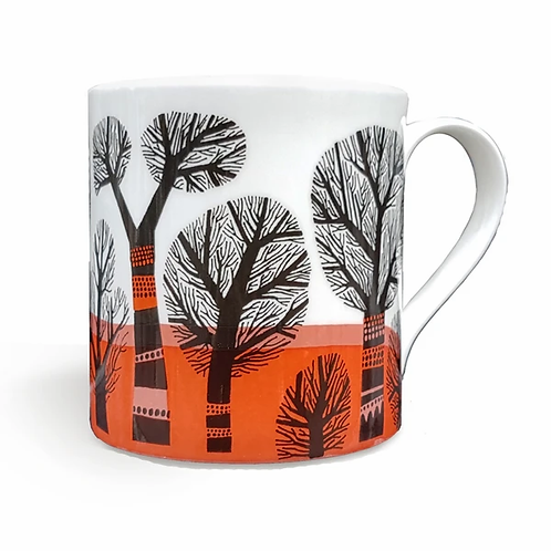 Lush Winter Trees Mug