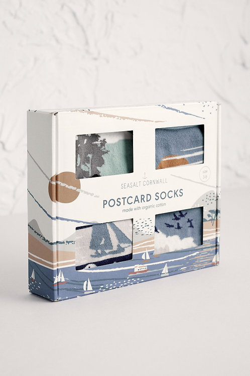 Seasalt Postcard Socks | Chevron Flight Mix