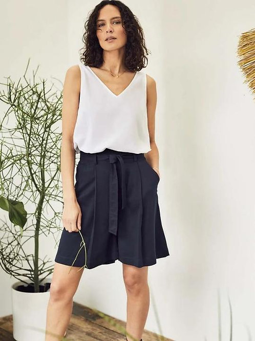 Thought Amorette Tie Waist Tencel Bamboo City Shorts | Navy