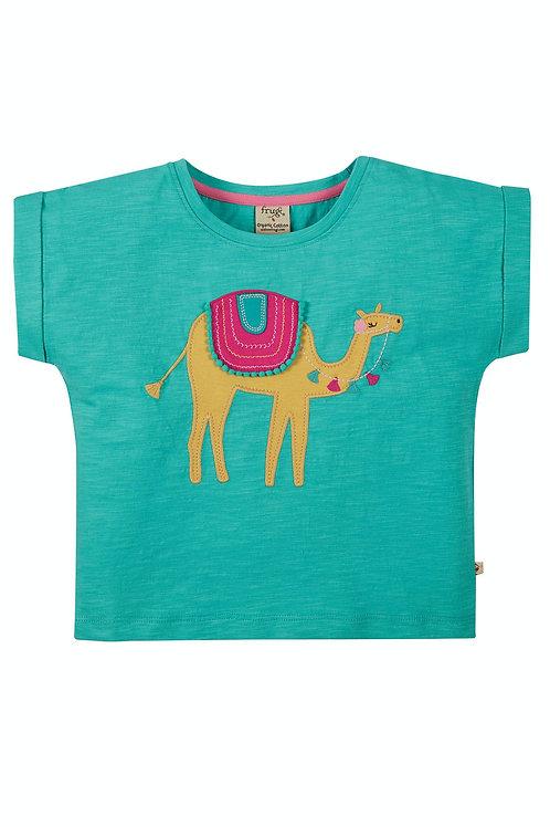 Frugi Sophia Slub T-Shirt | Camel
