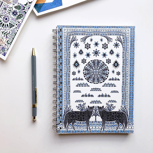 Prism of Starlings | A5 Lined Notebook