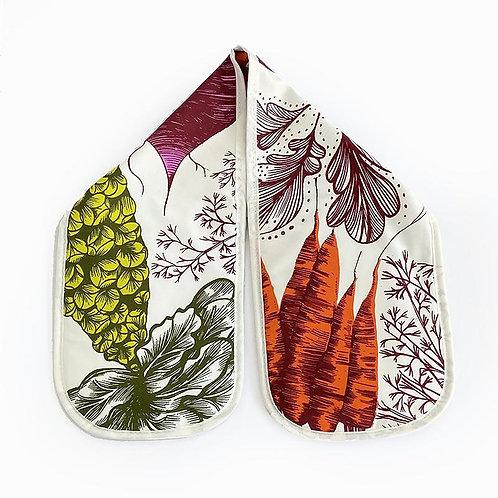 Lush Design Double Oven Glove   Vegetables
