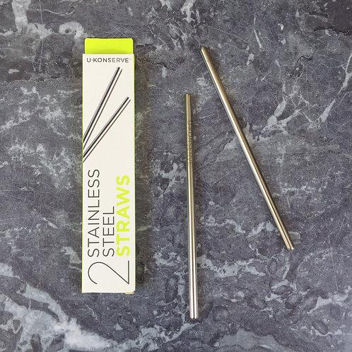U-Konserve Reusable Stainless Steel Straws (2-Pack)