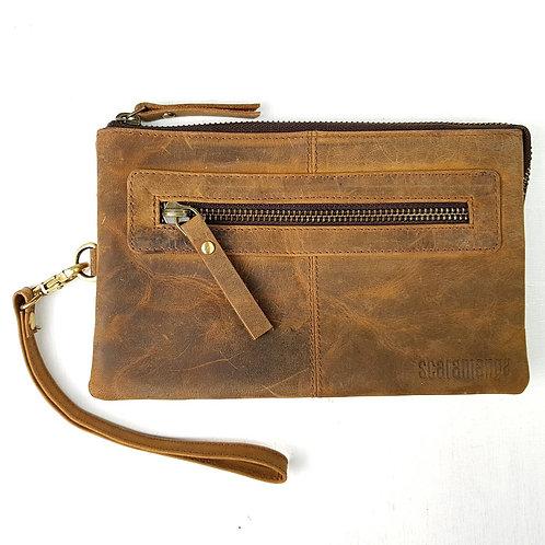 Scaramanga Leather Clutch Bag