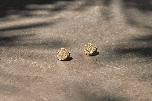 Nkuku Karnataka Disc Earrings Studs