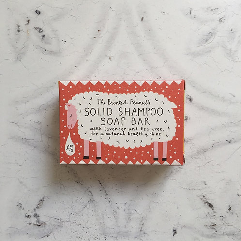 Printed Peanut Solid Shampoo Bar