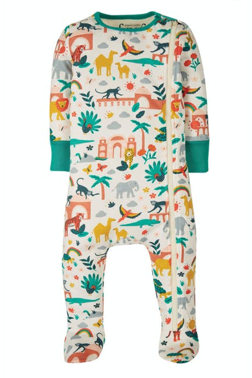 Frugi Zip Up Babygrow | India