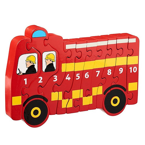 Lanka Kade Natural Wood Numbered Fire Engine Jigsaw