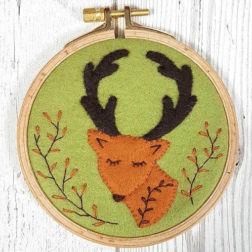 Wool Mix Felt Craft Kit | Folk Deer