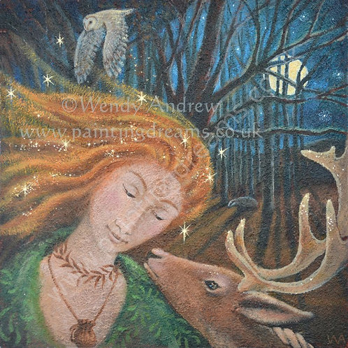 Painting Dreams Sacred Creatures Greeting Cards