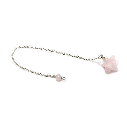 Rose Quartz Star Pendulum