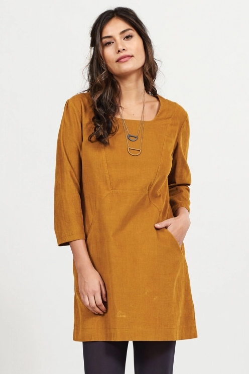 Nomads Square Neck Cord Tunic Dress | Spice