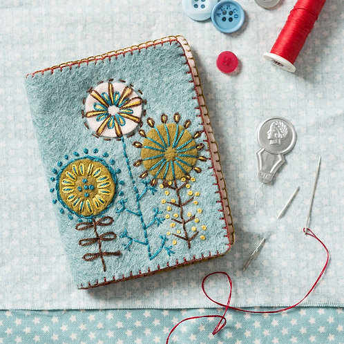 Wool Felt Embroidery Kit | Needle Case