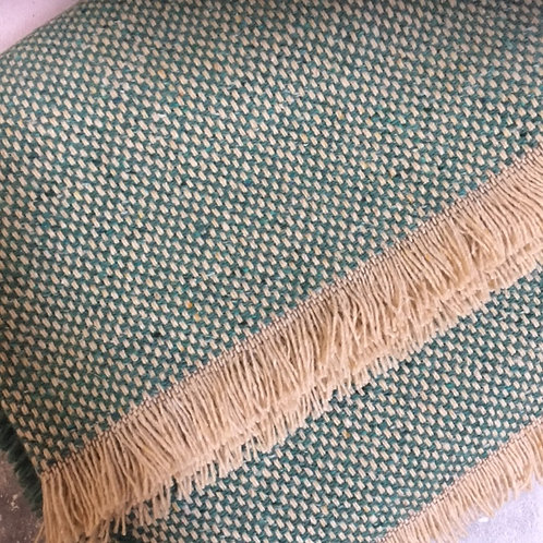 Tweedmill | Recycled Wool Throws White Trim