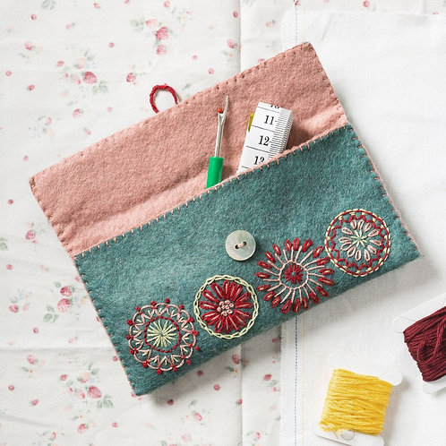 Wool Felt Embroidery Kit | Sewing Pouch