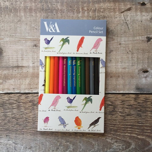 Colour Pencil Set | V&A Birds