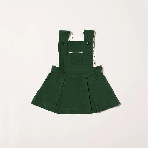Little Green Radicals Vintage Green Pinafore Dress