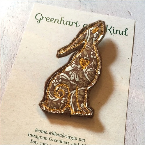 Greenhart & Kind Hare Brooch