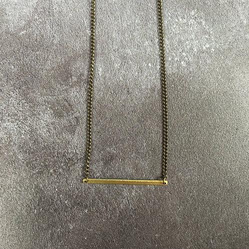 Just Trade Brass Bar Necklace