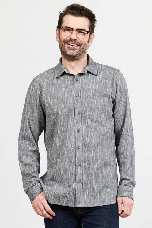 Nomads Men's Textured Cotton Shirt