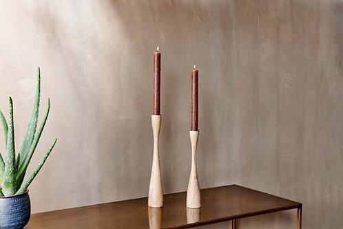 Nkuku Himba Mango Wood Candlestick