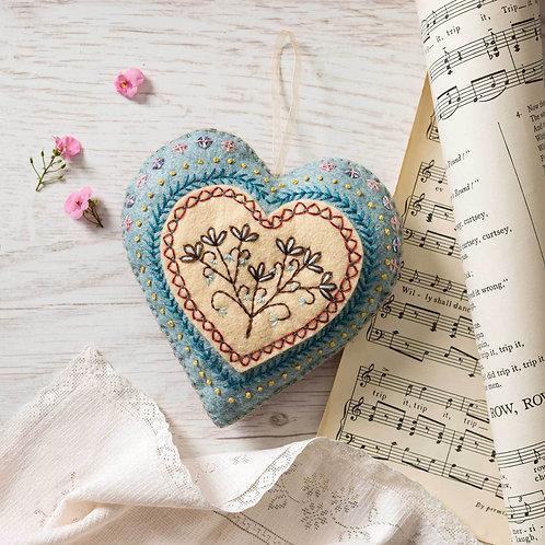 Wool Mix Felt Craft Kit | Embroidered Heart