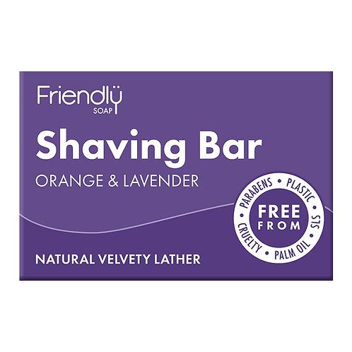 Friendly Soap Orange And Lavender Shaving Bar