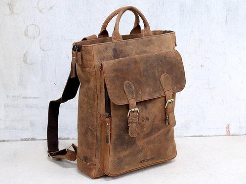 Scaramanga Laptop Leather Backpack - Odyssey