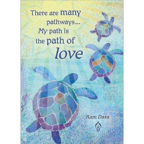 Amber Lotus Ram Dass Quote Greeting Cards