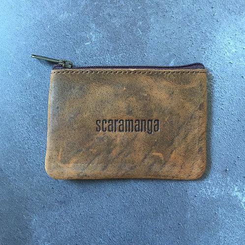Scaramanga Brown Leather Coin Purse