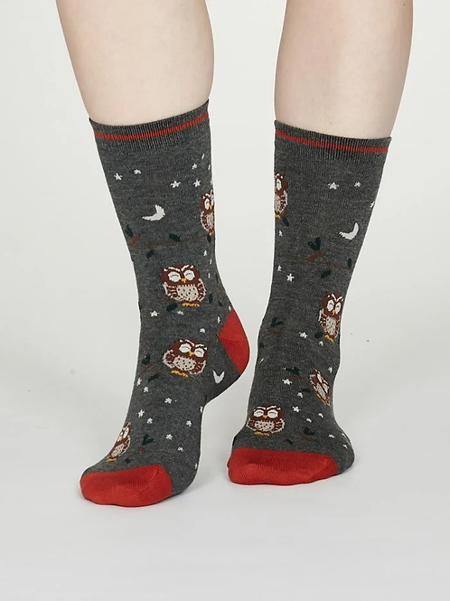 New Womens Thought Socks  | Owl
