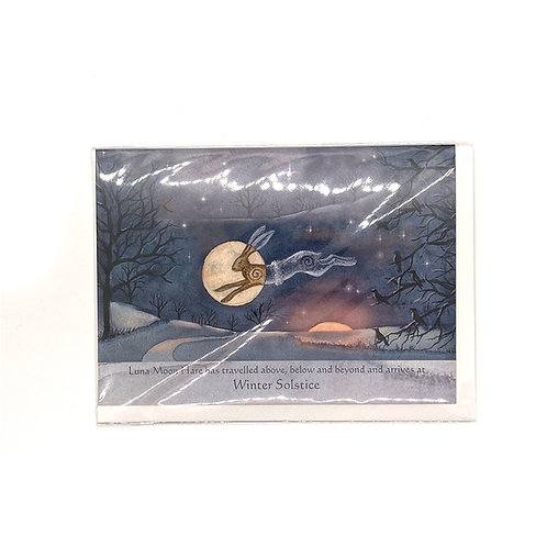 Painting Dreams Luna Moon Hare Greeting Cards