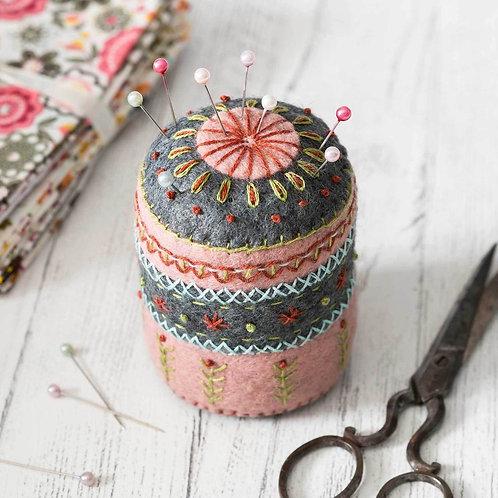 Wool Felt Embroidery Kit | Pin Cushion